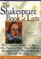 The Shakespeare Book of Lists