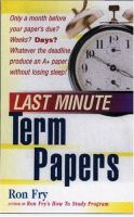 Last Minute Term Papers