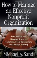 How to Manage An Effective Nonprofit Organization