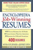 Encylopedia of Job-winning Resumes
