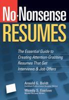 No-nonsense Resumes