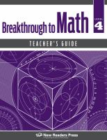 Breakthrough to Math