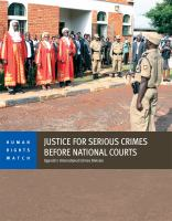 Justice for Serious Crimes Before National Courts
