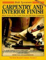 Carpentry and Interior Finish