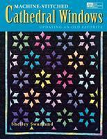 Machine-stitched Cathedral Windows