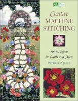 Creative Machine Stitching