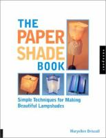 The Paper Shade Book