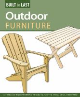 Outdoor Furniture:  14 Timeless woodworking projects book cover