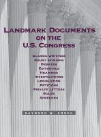Landmark Documents on the U.S. Congress