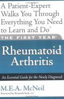 The First Year--rheumatoid Arthritis
