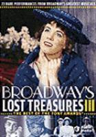 Broadway's Lost Treasures III