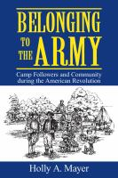 Belonging to the Army
