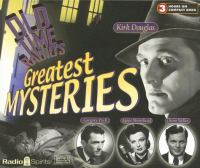 Old-time Radio's Greatest Mysteries
