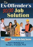 The Ex-offender's 30/30 Job Solution