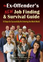 The Ex-offender's New Job Finding and Survival Guide