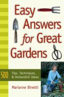 Easy Answers for Great Gardens