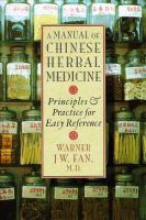 A Manual Of Chinese Healing Herbs