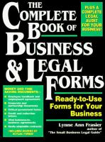 The Complete Book of Business and Legal Forms