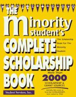 The Minority and Women's Complete Scholarship Book