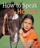 "How to Speak ""horse"""