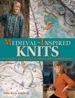 Medieval-inspired knits : stunning brocade and swirling vine patterns with embellished borders