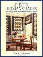 Pieced Roman Shades