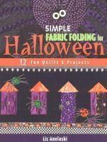 Simple Fabric Folding for Halloween