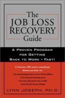 The Job-loss Recovery Guide