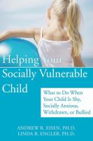 Helping your Socially Vulnerable Child