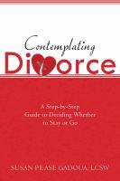 Contemplating Divorce