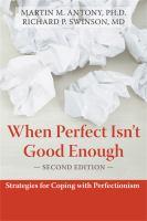 When Perfect Isn't Good Enough