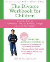Divorce Workbook for Children