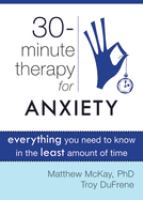 30-minute Therapy for Anxiety