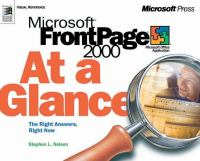 Microsoft FrontPage 2000 at A Glance