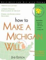 How to Make A Michigan Will