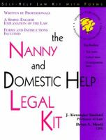 The Nanny and Domestic Help Legal Kit