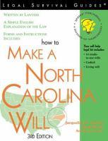 How To Make A North Carolina Will