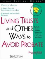Living Trusts, and Other Ways to Avoid Probate
