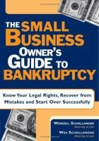 The Small Business Owner's Guide to Bankruptcy