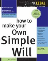 How to Make your Own Simple Will