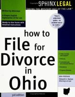How to File for Divorce in Ohio
