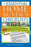 The Essential Home Buyer's Checklists