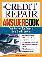 The Credit Repair Answer Book