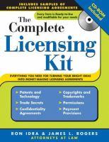 The Complete Licensing Kit (+ CD-ROM)