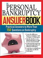 The Personal Bankruptcy Answer Book