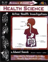 Health Science: Active Health Investigations (Science Action Labs)