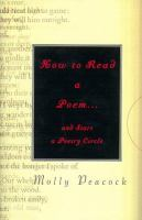 How to Read A Poem-- and Start A Poetry Circle