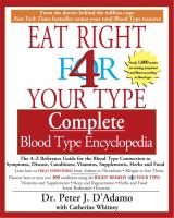 Eat Right for your Type Complete Blood Type Encyclopedia