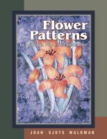Flower Patterns to Appliqué, Paint, and Embroider