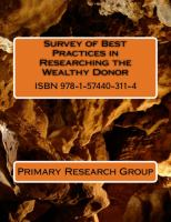 Survey of Best Practices in Researching the Wealthy Donor